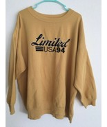The Limited USA 1994 Sweatshirt Vintage Sz XL Limited Jeans Embroidered ... - $185.25