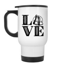 Chess Travel Mug - Love Chess Stainless Steel Mug - $23.99