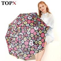 TopX® Creative Flower Automatic Umbrella Rain Unisex 3Folding Durable - $17.92