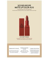 3CE Red Matte Lipstick 215 Ruby Tues * SALE £5 + Shipping * FREE SHIP ov... - $6.53
