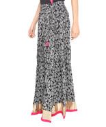 Pink Border Leaves Jaipuri Skirt  - $25.75