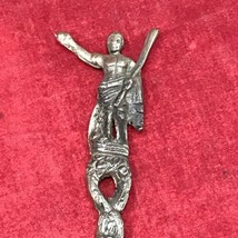 "VINTAGE Julius Caesar Made in Italy Intricate 7"" Tall Spoon - $29.65"