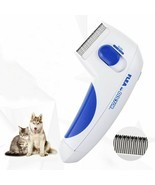 Pet Electric Flea Comb Cat Dog Nice Ticks Removal Eliminador De Piojos L... - $17.38 CAD