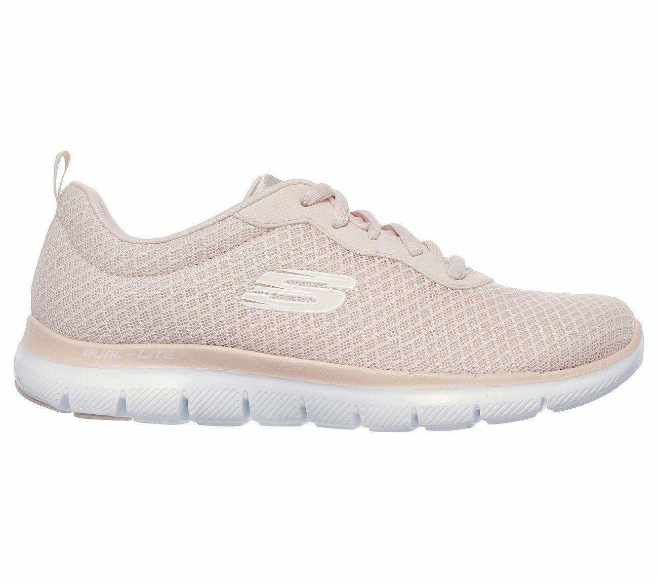 12775 Light Pink Skechers shoe Women Memory Foam Sport Train Comfort Casual Mesh