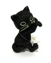 (1) Bath & Body Works Halloween BLACK CAT Glitter Candle Jar Hanger Glit... - $34.64