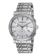 Burberry Men's Watch BU1372 Swiss Heritage White Chronograph Dial LUX Si... - $229.00