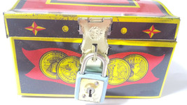 Tin Toy TREASURE BOX Vintage Antique Made in Japan Old Goods Super Rare - $271.15