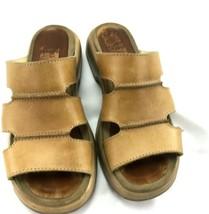 Dankso leather slip on sandals tan sz 37  - $99.00