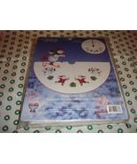 Cross Stitch Happy Holiday Snowman Tree Skirt-Tabletopper Kit  - $31.99