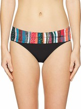 Anne Cole MULTI Fold Over Mid-Rise Bikini Swim Bottom, US X-Small - $32.08