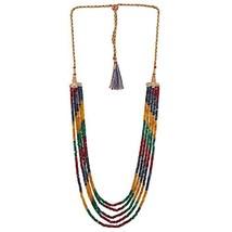Ratnavali Jewels Multi Color Quartz Beads Stone Strand Fashion Necklace ... - $26.73