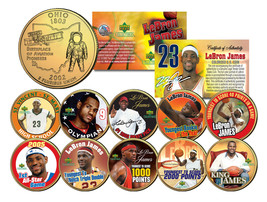 LEBRON JAMES Colorized Ohio State Quarter 10-Coin Set 24K Gold Plated *L... - $37.36