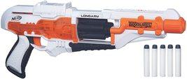 Longarm Nerf Doomlands Toy Blaster with Flip-Open Drum 5 Official Elite Darts - $39.99