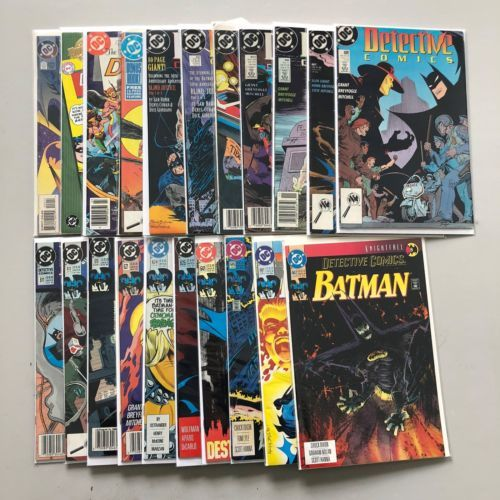 Lot of 21 Detective Comics (1937 1st Series) from #0 225-662 FN-VF Very Fine