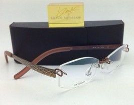 Kazuo Kawasaki Titan Brille 704 Duo SF099/50 Rahmenlose Braun/Schlange Rahmen