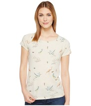 LUCKY BRAND BIRD PRINTED TEE TOP NWT SIZE S - $23.22