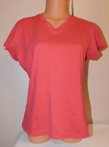 Danskin Now Women's Short Sleeve T-Shirt Size: XL (16-18) Color: Chyvan
