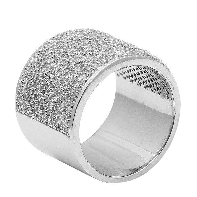 Royal !! White Topaz 925 Sterling Silver Ring Shine Jewelry Size-7.5 SHRI1431