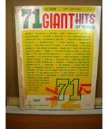 71 Giant Hits of Today Word-Chords-Music (1969, PB) - $5.39