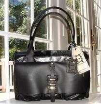 JOY GRYSON BLACK OLIVIA HARRIS LEATHER MATTALO SATCHEL BAG NWT $527.+ - $245.51