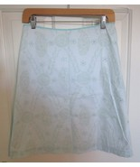 TOMMY HILFIGER Turquoise Pencil Skirt 6 Knee Length beaded paisley lined... - $9.47