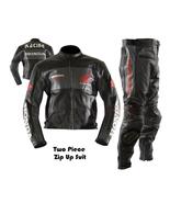 HONDA BLACK MOTORBIKE MOTORCYCLE BIKER COWHIDE LEATHER ARMOURED 2 PC SUIT - $339.99