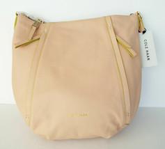 New COLE HAAN Light Beige Pebble Leather Hobo Satchel Shoulder Bag w/ tags - $134.00