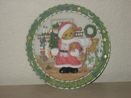 "Cherished Teddies Plate ""THE SEASON TO BELIEVE"" Christmas 1997 Priscilla Hillman - $8.56"