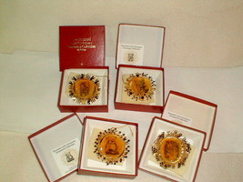 Hummel gold plated Christmas ornaments 4pc in box 1980's collection - $25.00