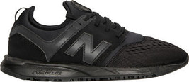 Women's New Balance 247 Casual Shoes Black/Black WRL247MH 7MH - $91.24