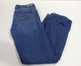 Levi's Womens 518 Superlow Bootcut Jeans Size 9M Stretch Blue Denim  - $18.99