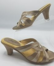 Slip Womens Bronze Sandals Med Sz On SOFFT 8 Leather wdvfOqxwEX