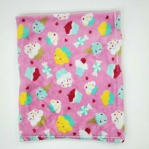 Baby Starters Baby Blanket Pink Cupcake Ice Cream Heart Candy Fleece Girl B350 - $39.99