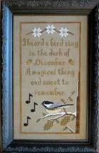 Bird of Winter seasonal cross stitch chart Stitches Through Time  - $10.80