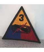 VINTAGE COLLECTIBLE PATCH ARM VEST JACKET MILITARY US ARMY 3RD ARMORED D... - $15.84