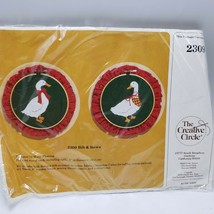 Creative Circle Christmas Goose Geese Craft Kit Hoop 2309 Bib Bows Molly... - $12.99