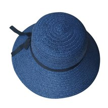 sun hats for women summer visor hat Floppy Foldable Ladies Straw Beach Wide Brim image 4