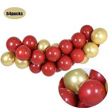 DIY Ruby Red Balloon Garland Arch Kit-Chrome Metallic Gold Balloon with 16ft Lon