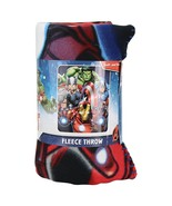 "Marvels The Avengers ""Band of Heroes""  Lightweight Fleece Throw Blanket NEW - $74.80"
