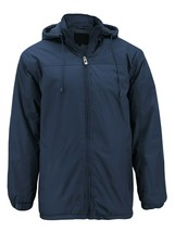 Men's Heavyweight Polar Fleece Zip Up Windbreaker Hood Insulated Jacket image 2