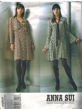 2820 Non Tagliati Vogue Cartamodello Misses Anna Sui Aderente Due Righe ... - $24.98