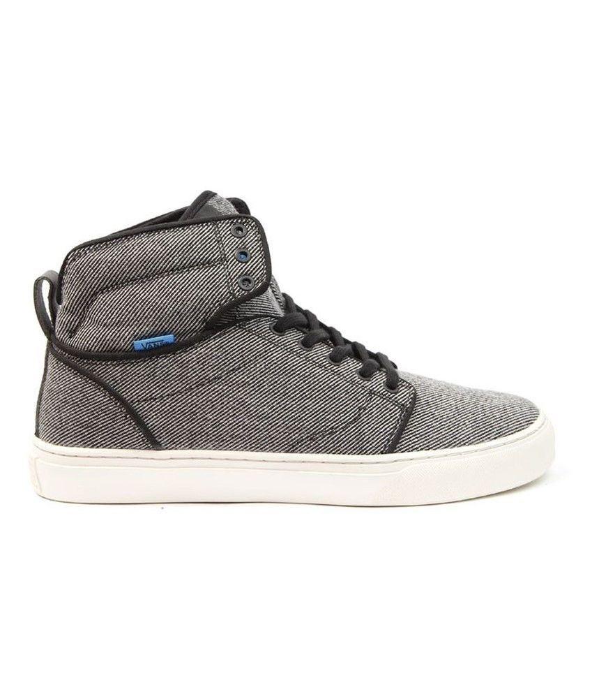 VANS Alomar (Wool Twill) Black Hi Top Men's Skate Shoes Size 11.5 image 2