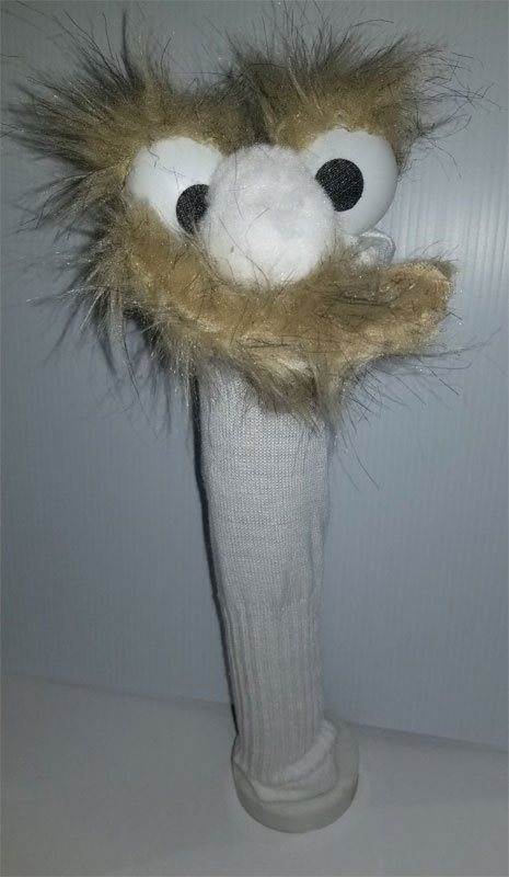 "D17 * Basic Custom ""Mustache / Soul Patch""  Sock Puppet * Custom Made"