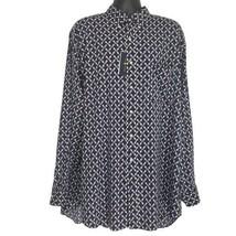 Ralph Lauren Performance Mens Blue Paddle Long Sleeve Button Down Shirt ... - $50.22