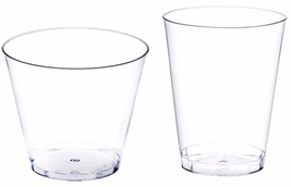 Clear Disposable Hard Plastic Cups 5 Sizes ( 20 cups/lot), Glasses Bar C... - $14.35+