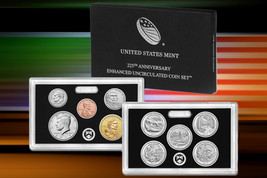 Lot of 4 2017 US Mint 225th Anniversary Enhanced Uncirculated Coin Sets Box/COA image 1
