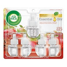 Air Wick Scented Oil 5 Refills, Apple Cinnamon Medley, 5X0.67oz Pack of 5