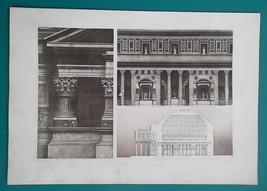 PANTHEON ROME Interior Elevations & Section - 1905 Espouy Heliogravure P... - $30.60