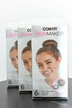 3 Pack! Conair Bun Maker 6 Piece Kit, Brown - $13.85