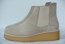 NEW Clarks Italy Ornella Chelsea Womens 8.5 M Sand Suede Wedge Ankle Boo... - $89.09